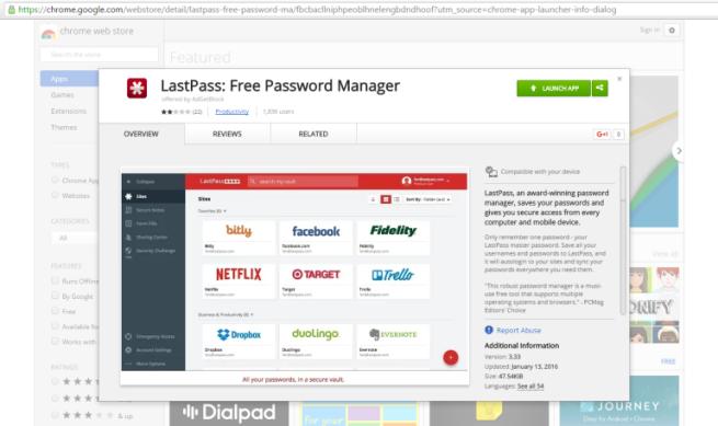 Falsa extensión de LastPass