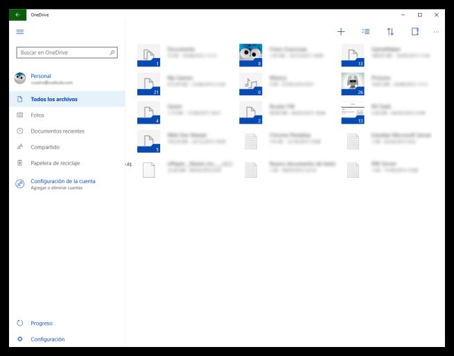 OneDrive Universal para Windows 10