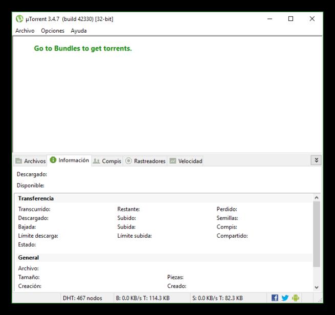 uTorrent minimalista