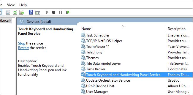 Teclado táctil Windows 10