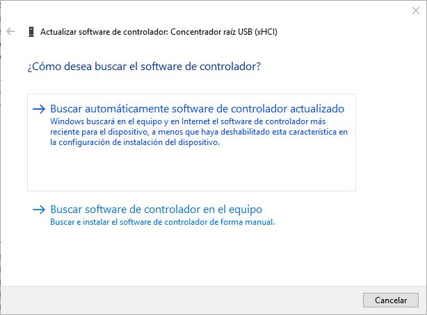 Actualizar software del controlador