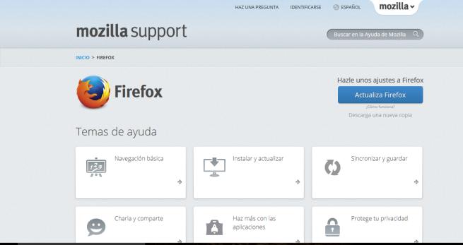 Ayuda en Firefox, el navegador de Mozilla