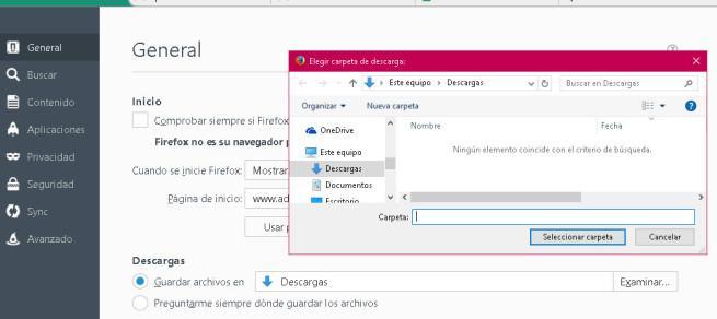 Configuración Firefox