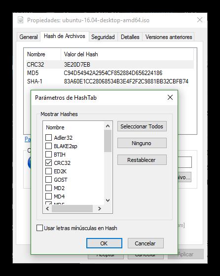 HashTab - parámetros