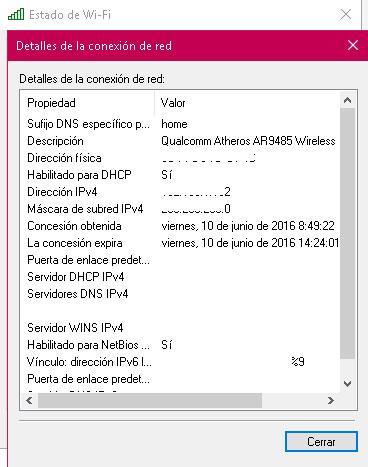 Detalles dirección IP