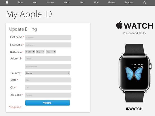 Página web falsa de iTunes