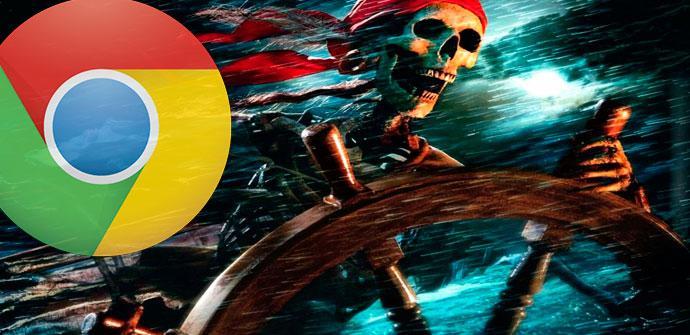 Descargas piratas desde Chrome