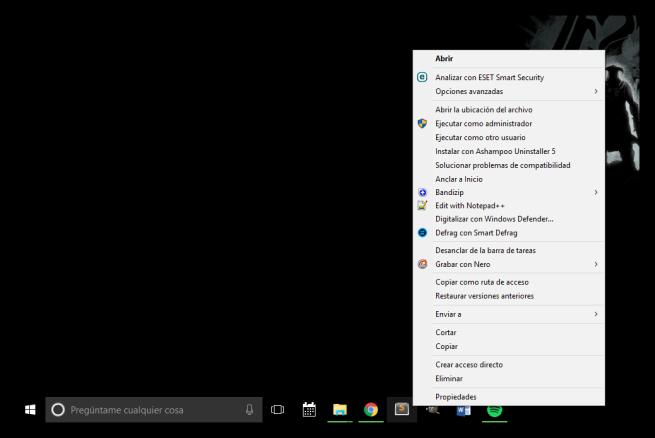 Atajo teclado Windows 10