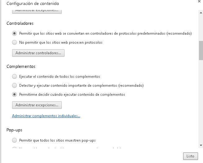 Complementos Chrome