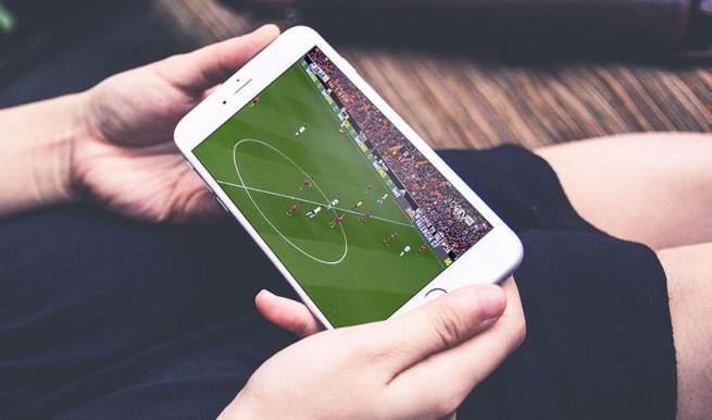 Ver fútbol desde el móvil