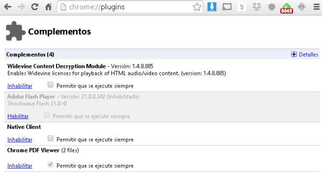 plugins Chrome
