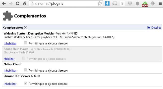 plugins Chrome
