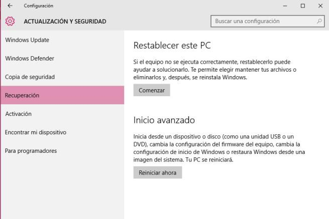 Reinstalar Windows 10