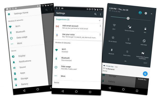 Ajustes Android Nougat