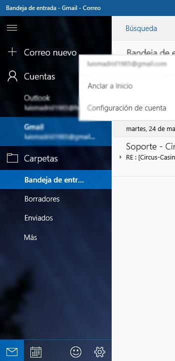 Correo en Windows 10