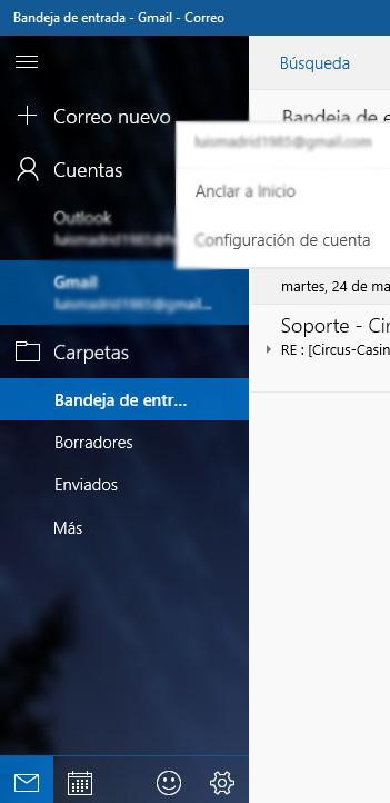 Correo en Windows 10