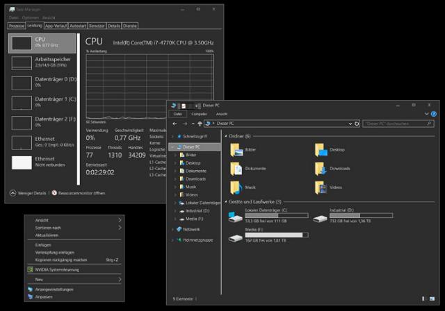 Dark/Grey Windows 10 Temas de alto contraste
