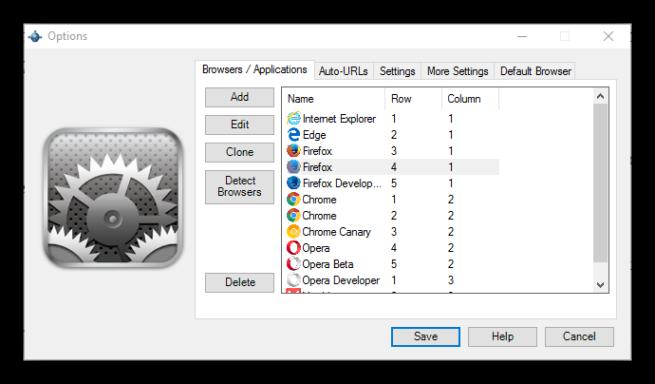 Lista Navegadores Browser Chooser