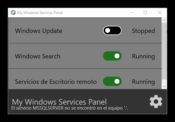 My Windows Services - Principal
