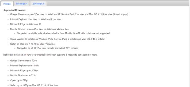 Safari también soporta 1080p en Netflix