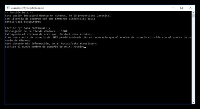 Usuario UNIX para Bash