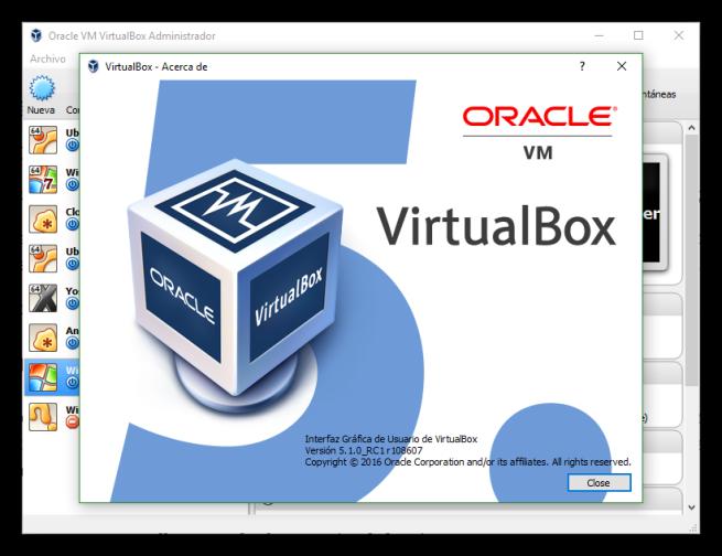 VirtualBox 5.1 RC