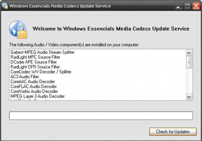 Windows Essentials Codec Pack