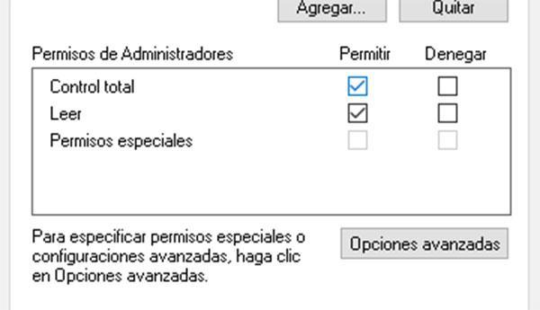PErmisos registro Windows