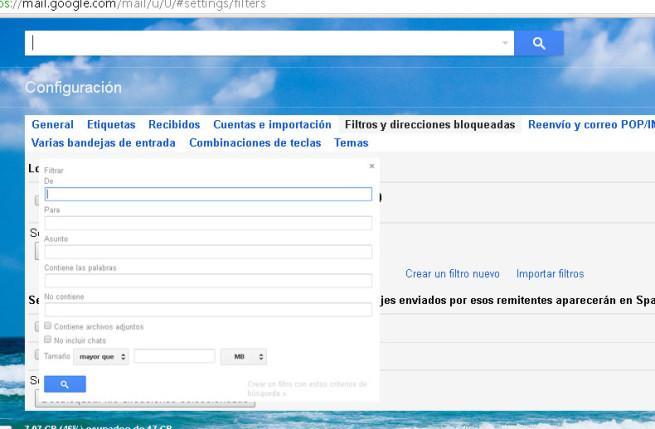direcciones bloqueadas Gmail