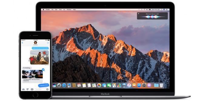 macOS Sierra y iOS 10