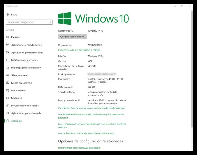 Acerca de Windows 10 Anniversary Update