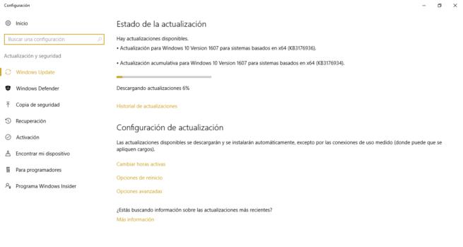 Actualizaciones acumulativas de Microsoft