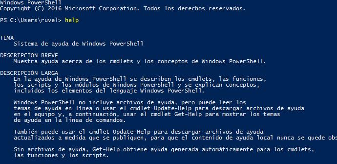 Apertura PowerShell
