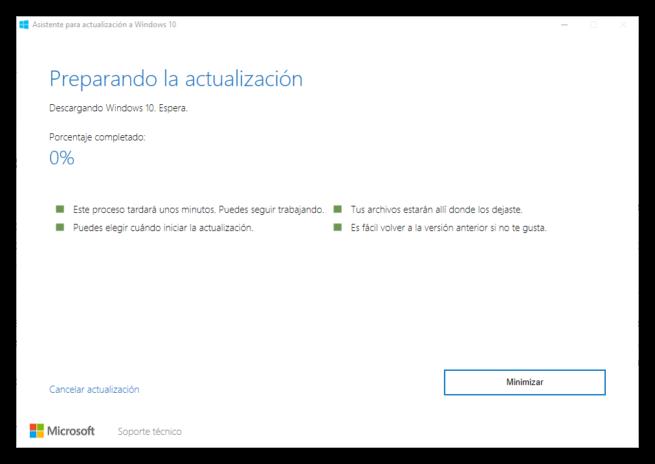 Asistente actualización Windows 10 Anniversary Update