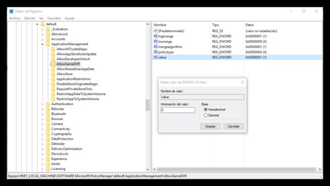 Desactivar la Game Bar DVR en Windows 10 Anniversary Update