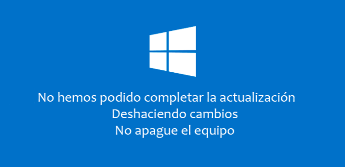 Error actualización Windows 10