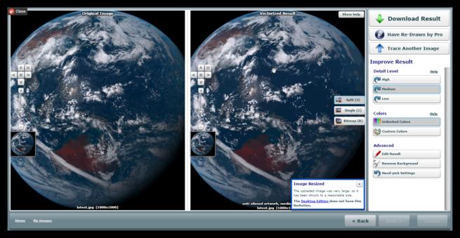Imagen tierra vectorizada en SVG