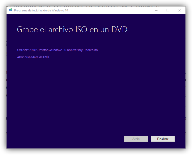 Media Creation Tool - Descarga lista de Windows 10 Anniversary Update
