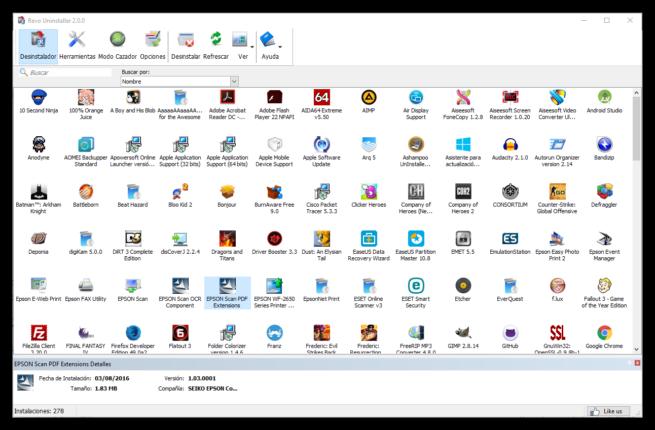 Revo Uninstaller 2.0 - Vista iconos