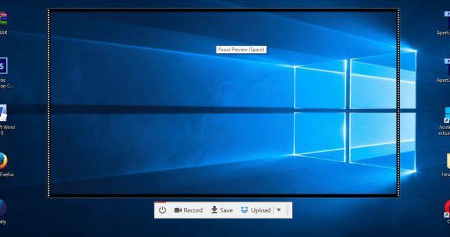 Graba la pantalla de tu ordenador