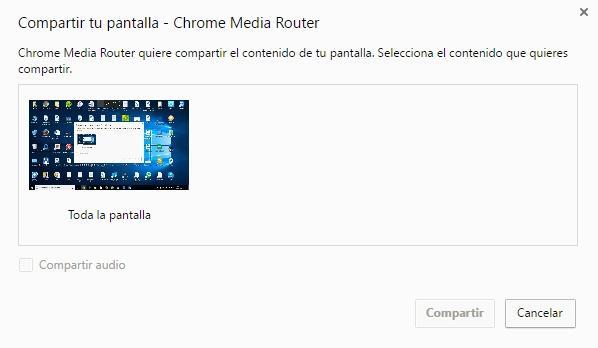 Chromecast compartir escritorio