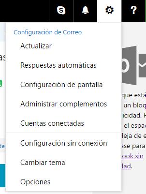 Configuración offline en Outlook