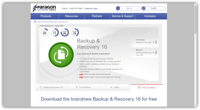 Descargar Paragon Backup and Recovery gratis