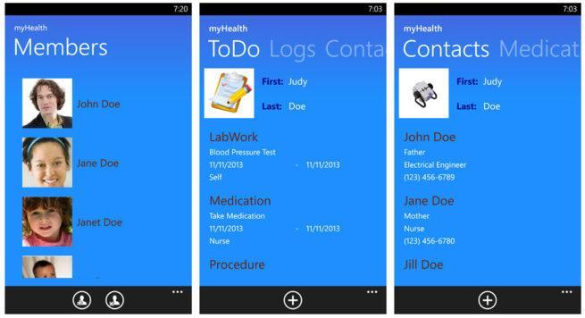 HealthVault en Windows Phone