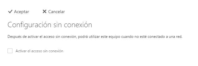 Modo offline en Outlook