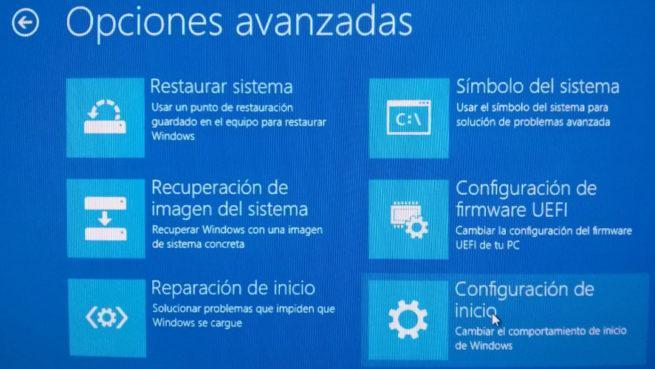 Reiniciar en modo seguro en Windows 10