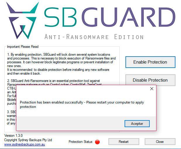 SBGuard antiransomware