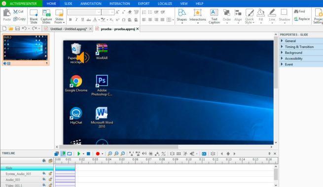 grabar presentaciones en vídeo de tu escritorio