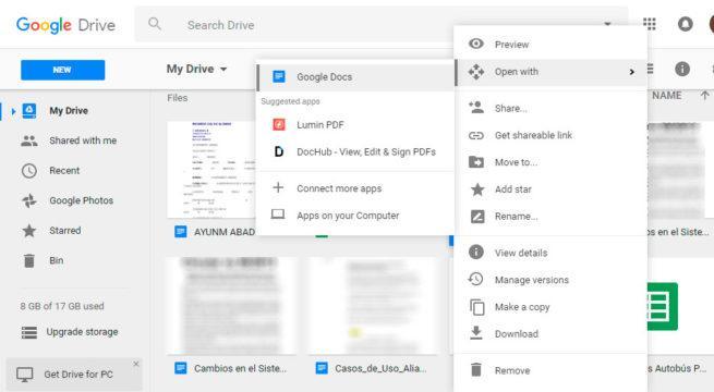 editar con Google Docs
