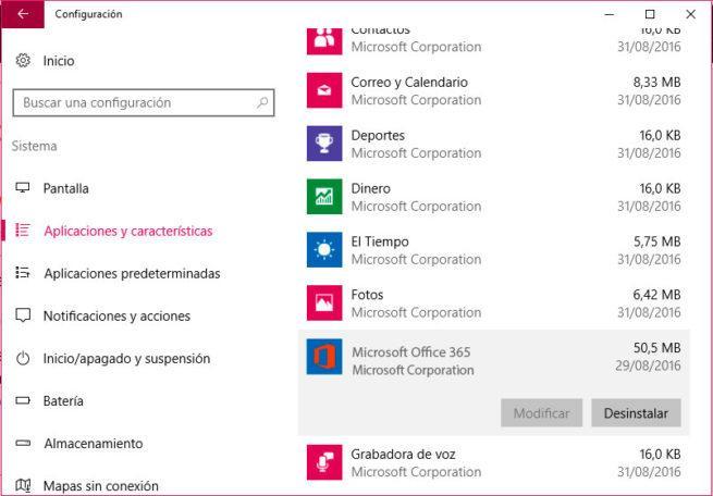 problemas al usar Office 365 en Windows 10